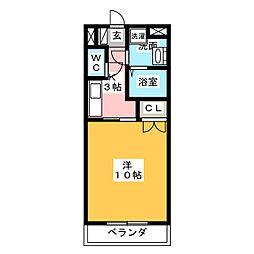 フォーブル鈴木2[3階]の間取り