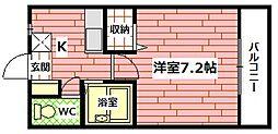 広島県広島市安佐南区長束西2丁目の賃貸マンションの間取り