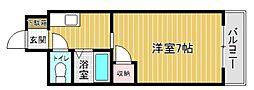 プレアール奈多[4階]の間取り