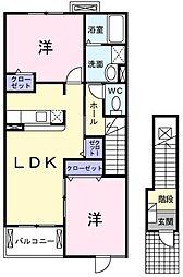 サニ−・レジデンスA[203号室]の間取り