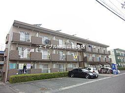 岡山県岡山市北区十日市東町の賃貸アパートの外観