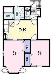 メゾン・サンセール A棟[1階]の間取り