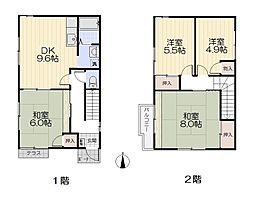 [テラスハウス] 神奈川県横浜市戸塚区汲沢8丁目 の賃貸【/】の間取り