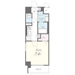 名古屋市営東山線 池下駅 徒歩9分の賃貸マンション 9階1Kの間取り