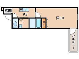 フジパレス 新通II番館[1階]の間取り