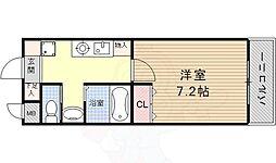 A・City鳴海 4階1Kの間取り
