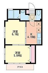 神奈川県川崎市多摩区宿河原1丁目の賃貸マンションの間取り