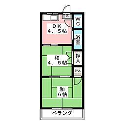 コーポ和光[2階]の間取り