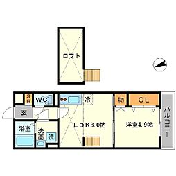 KTIレジデンス江坂[3階]の間取り