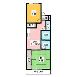 ハピネスI II[2階]の間取り