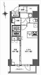 都営新宿線 馬喰横山駅 徒歩9分の賃貸マンション 8階1LDKの間取り