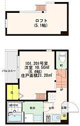仮)大阪市旭区清水四丁目SKHコーポ[2階]の間取り