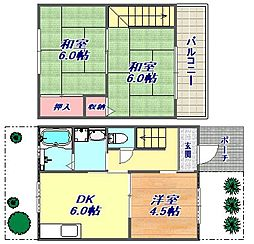 [タウンハウス] 兵庫県神戸市東灘区魚崎中町3丁目 の賃貸【/】の間取り