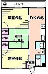 寿町マンション[4階]の間取り