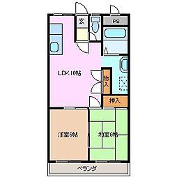 ハウスオブサンタ[3階]の間取り