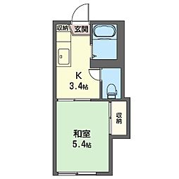 コーポ701・B[1階]の間取り