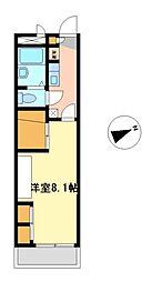 兵庫県加古郡稲美町国岡1の賃貸アパートの間取り