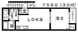 K4(ケーフォー)[3F号室号室]の間取り