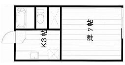 ラポン大巌寺[203号室]の間取り