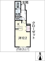 パルスクエアⅡ[1階]の間取り