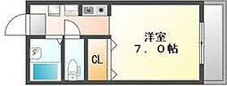 香川県高松市室新町の賃貸アパートの間取り