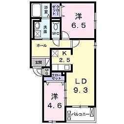 神奈川県大和市福田6丁目の賃貸アパートの間取り
