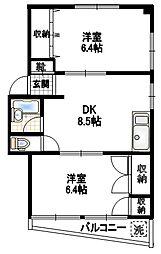 東京都杉並区宮前1丁目の賃貸マンションの間取り