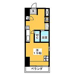愛知県名古屋市熱田区六番3の賃貸マンションの間取り