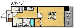 ソレアードコート[4階]の間取り