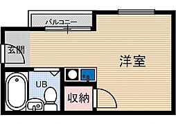 大池五番館[2階]の間取り