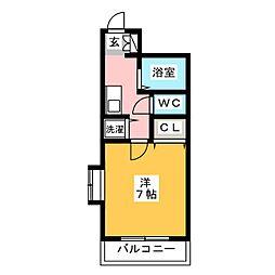 グランメール吉塚[4階]の間取り