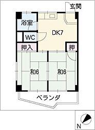 コーポハンター[3階]の間取り