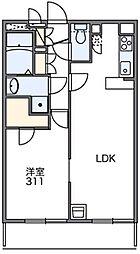 東京都大田区下丸子2丁目の賃貸アパートの間取り
