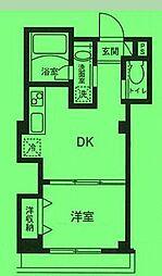 東京都北区西ケ原の賃貸マンションの間取り