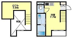 愛知県豊田市小坂本町3丁目の賃貸アパートの間取り