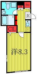 THE RESIDENCE toshima-chihaya 4階1Kの間取り