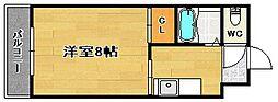 福岡県福岡市中央区荒戸1丁目の賃貸マンションの間取り