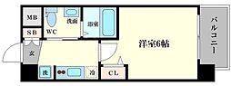 エグゼ大阪ドーム 5階1Kの間取り