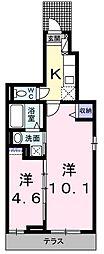 カーサジェンティーレ[1階]の間取り