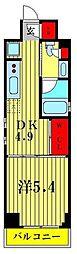 JR総武線 亀戸駅 徒歩7分の賃貸マンション 7階1DKの間取り