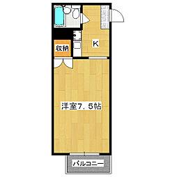四条敷島ビル[707号室]の間取り