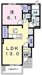 クレール東松阪B[1階]の間取り