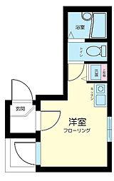 東京都大田区仲六郷2丁目の賃貸アパートの間取り