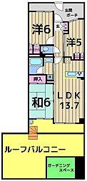トーキョーガーデンスイート[2階]の間取り