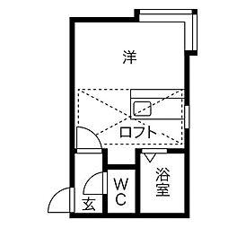 アローハイム[3階]の間取り