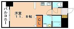ローリス飯塚[4階]の間取り