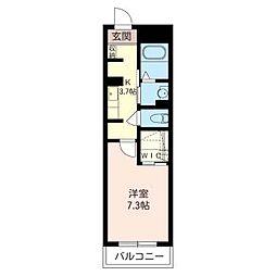 プランドール・シオン[1階]の間取り