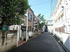 前面道路(北東方向)