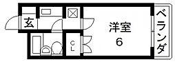 アパルト俊徳道[1階]の間取り