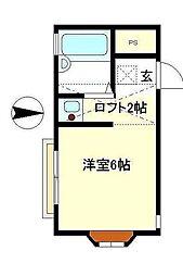 ルーチェ湘南[1階]の間取り